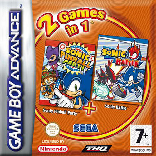 2 in 1 - Sonic Pinball Party & Sonic Battle (E)(Rising Sun) gba Game