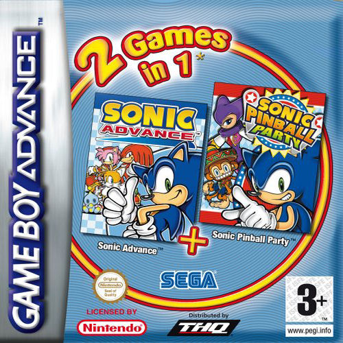 2 in 1 - Sonic Advance & Sonic Pinball Party (E)(Rising Sun) gba Game