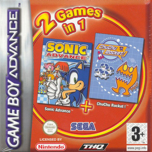 2 in 1 - Sonic Advance & Chu Chu Rocket (E)(Independent) gba Game