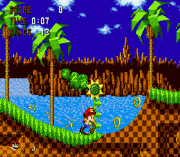 Mario in Sonic 1 (Somari) sega Game