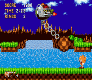 Ray the Flying Squirrel in Sonic the Hedgehog sega Game