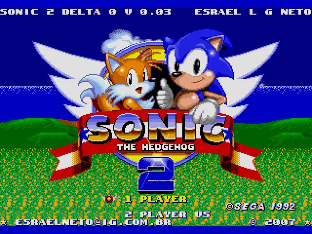 Sonic the Hedgehog 2 (World) (Beta) [Hack by Esrael v0.03] (~Sonic 2 Delta 0) sega Game
