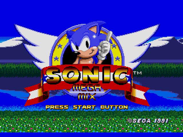 Sonic the Hedgehog (USA, Europe) [Hack by Team Megamix v3.0] (~Sonic - Mega Mix) sega Game