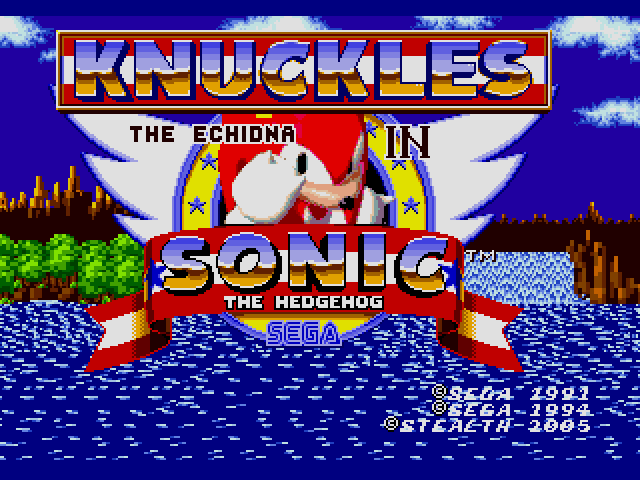 Sonic the Hedgehog (USA, Europe) [Hack by Stealth Rev 1] (~Knuckles the Echidna in Sonic the Hedgeho Game