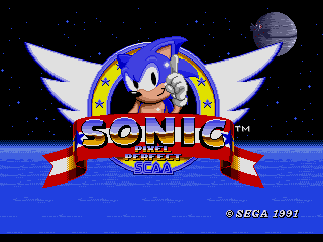 Sonic the Hedgehog (USA, Europe) [Hack by JcFerggy v20080831] (~Sonic - Pixel Perfect) sega Game