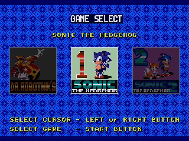 Sonic Classics (USA, Europe) (v1.1) sega Game