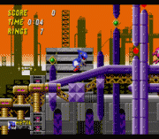 Metal Sonic in Sonic the Hedgehog 2 sega Game