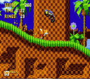 Tails in Sonic the Hedgehog sega Game