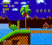 Knuckles the echidna in sonic the hedgehog sega game