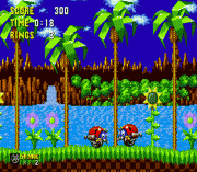 Motobug in Sonic 1 (beta) sega Game