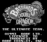 Battletoads Double Dragon - The Ultimate Team on gb
