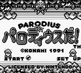 Parodius da! (Japan) on gb