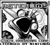 Asteroids (USA, Europe) on gb Game