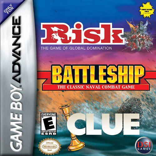 Risk, Battleship, Clue (U)(Trashman)