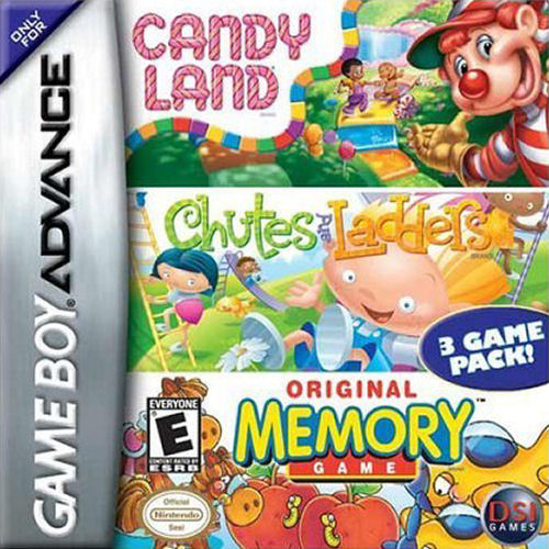 3 in 1 - Candy Land, Chutes and Ladders, Memory (U)(Trashman)
