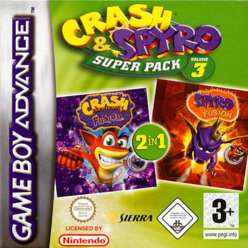 2 in 1 - Spyro - Fusion & Crash Bandicoot - Fusion (E)(Rising Sun)