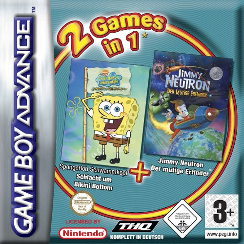 2 in 1 - Spongebob Squarepants Battle for Bikini Bottom & Jimmy Neutron Boy Genius (E)(Independent)