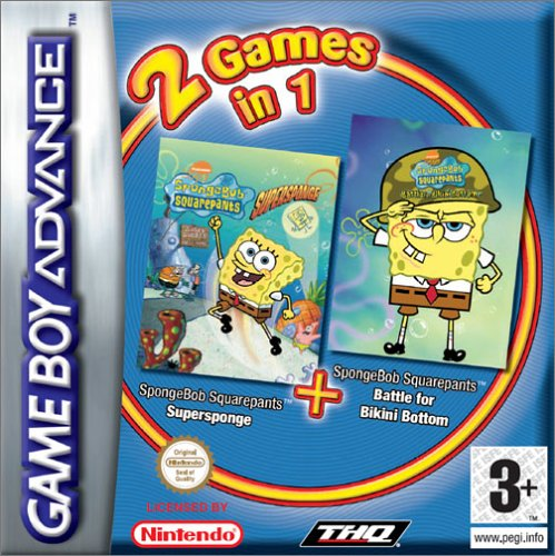 2 in 1 - SpongeBob Squarepants - Supersponge & Battle for Bikini Bottom (E)(Sir VG)