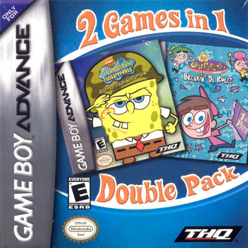 2 in 1 - SpongeBob Squarepants - Battle for Bikini Bottom & Fairly Oddparents - Breakin' Da Rules (U)(Sir VG)