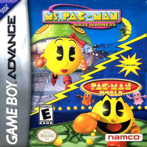 2 in 1 - Ms. Pac-Man - Maze Madness & Pac-Man World (U)(Sir VG)