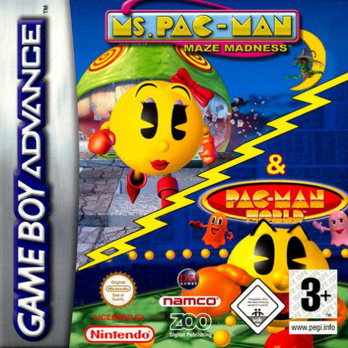 2 in 1 - Ms. Pac-Man - Maze Madness & Pac-Man World (E)(Independent)