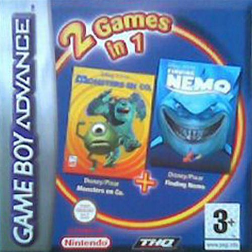 2 in 1 - Monsters en Co & Finding Nemo (N)(Independent) Game