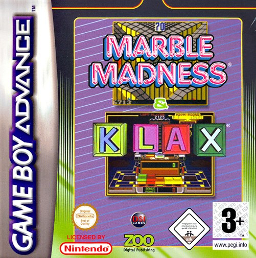 2 in 1 - Marble Madness & Klax (E)(sUppLeX) Game
