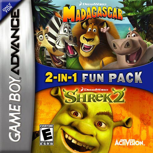 2 in 1 - Madagascar & Shrek 2 (U)(Independent) Game