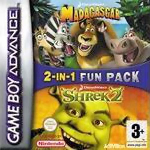 2 in 1 - Madagascar & Shrek 2 (E)(Independent) Game