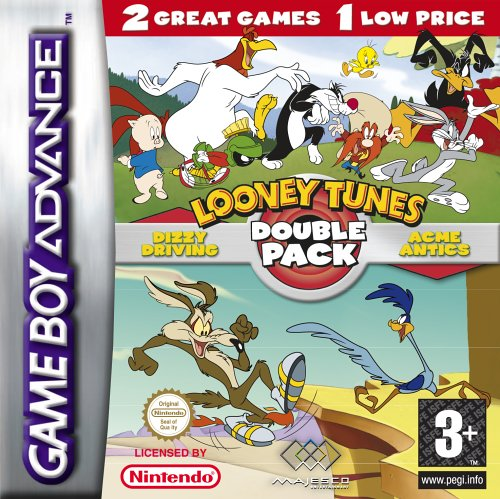 2 in 1 - Looney Tunes Double Pack - Acme Antics & Dizzy Driving (E)(Rising Sun) Game