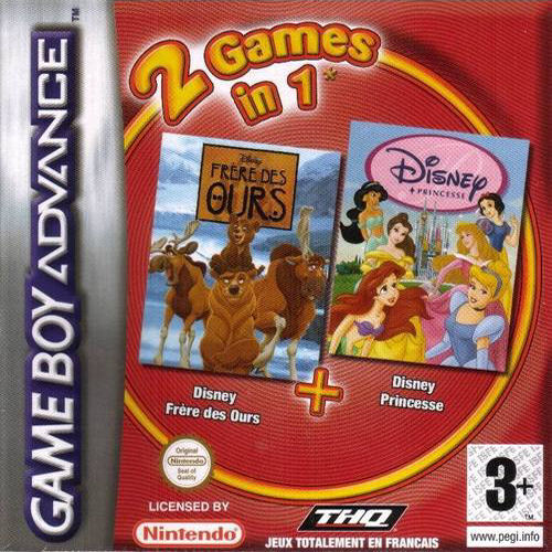 2 in 1 - Frere des Ours & Disney Princesse (F)(Independent) Game