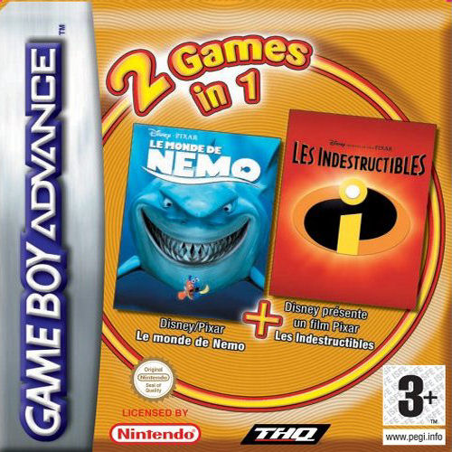 2 in 1 - Finding Nemo & The Incredibles (E)(Independent) Game