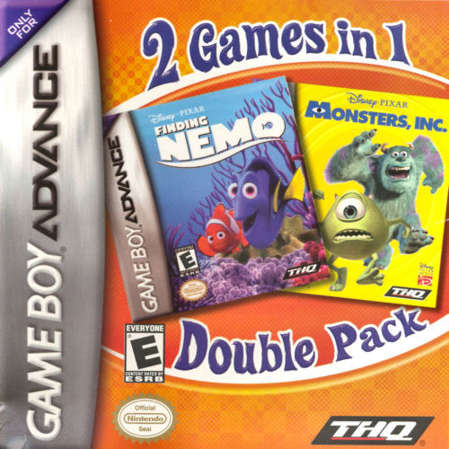 2 in 1 - Finding Nemo & Monsters Inc. (U)(Sir VG) Game