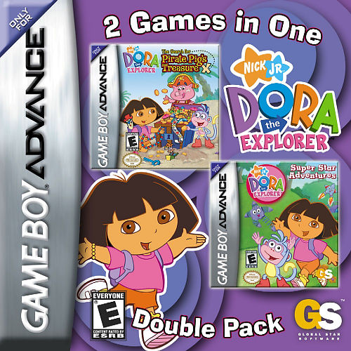 2 in 1 - Dora the Explorer - Pirate Pig's Treasure & Super Star Adventures (U)(Sir VG)