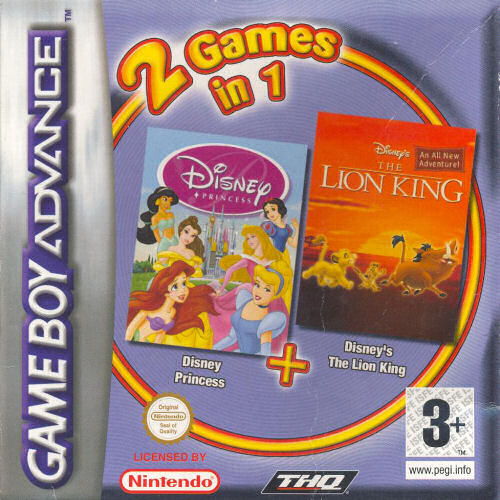 2 in 1 - Disney Princess & The Lion King (E)(Sir VG) Game