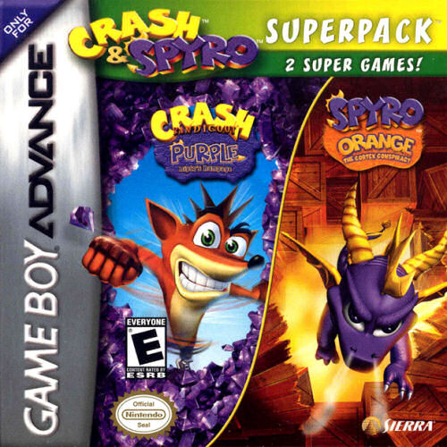 2 in 1 - Crash Bandicoot Purple - Ripto's Rampage & Spyro Orange - The Cortex Conspiracy (U)(Independent) Game