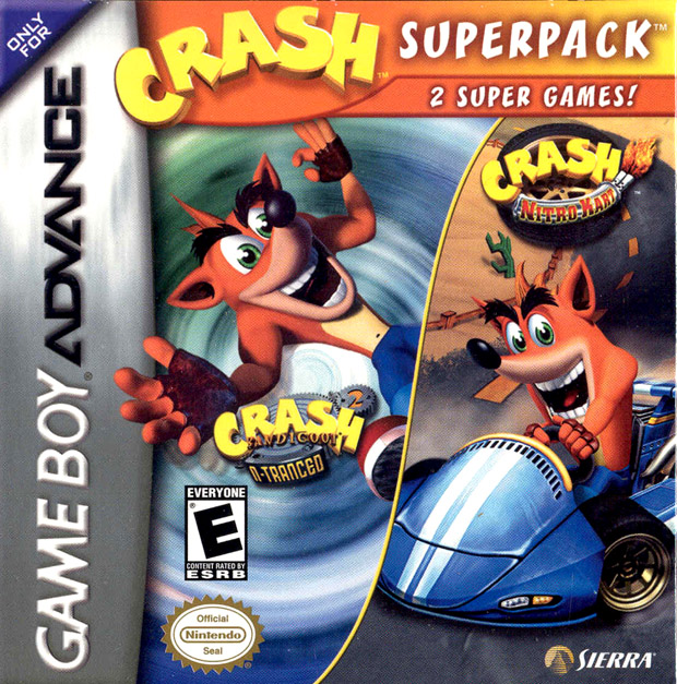 2 in 1 - Crash Bandicoot 2 - N-Tranced & Crash Nitro Kart (U)(Trashman) Game