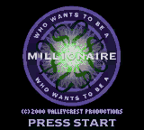 Who Wants to Be a Millionaire - 2nd Edition on gbc