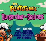 Flintstones, The - Burgertime in Bedrock Game