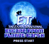 E.T. The Extra Terrestrial - Escape from Planet Earth Game