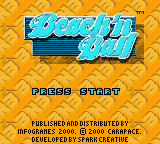 Beach'n Ball (Europe) (En,Fr,De,Es,It) Game
