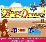 Azure Dreams (Europe) (En,Fr,De) Game