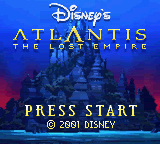 Atlantis - The Lost Empire (USA, Europe) Game