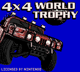 4x4 World Trophy (Europe) (En,Fr,De,Es,It) Game
