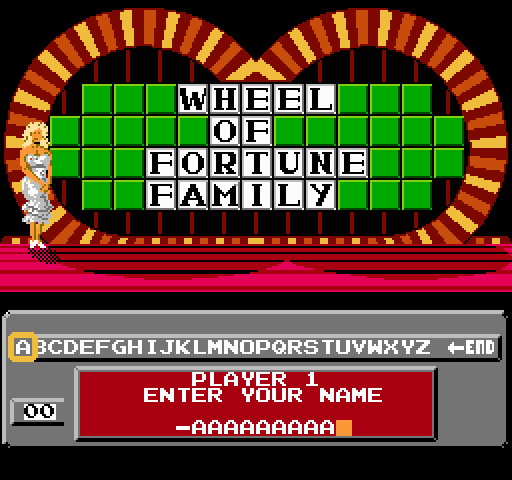 Wheel of Fortune Family Edition game