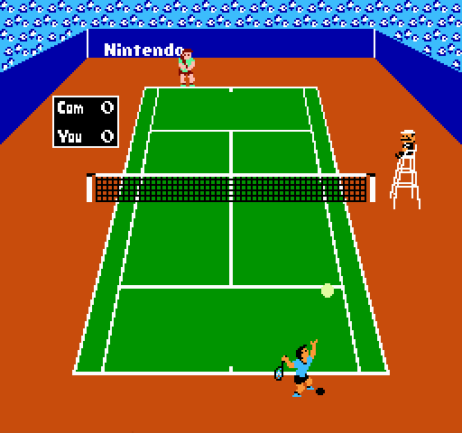 Tennis on nes game