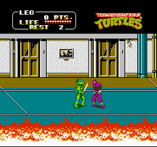 Teenage Mutant Ninja Turtles 2 game