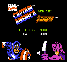 Captain America and the Avengers on nes