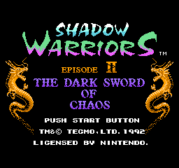 Shadow Warriors Episode II - The Dark Sword of Chaos (Europe)