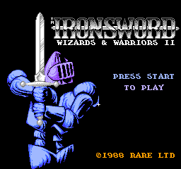 Ironsword - Wizards & Warriors II (Europe) game